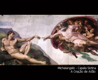 Capela Sistina - A Criação de Adão-exp